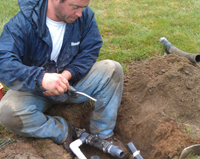 Irrigation installation in Millbury, Massachusetts